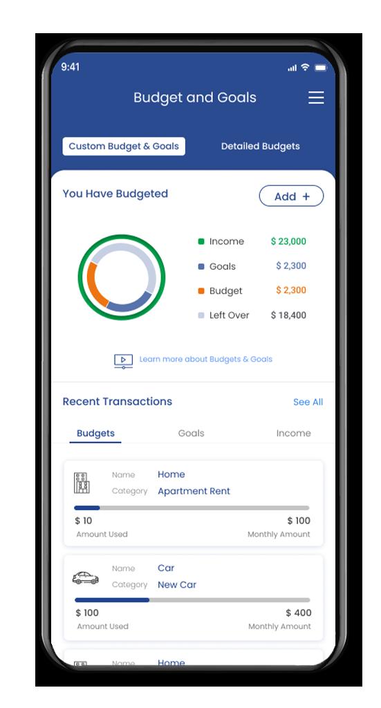 FinLocker Budgets and Goals